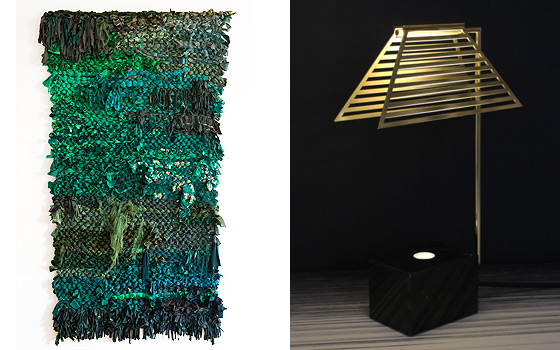 Left: Longings I, Deep Dense by Femke van Gemert and right Contorno by Jolanda van Goor